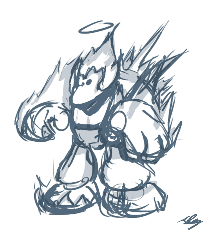 Ape Elemental Sketch by Adam-Clowery
