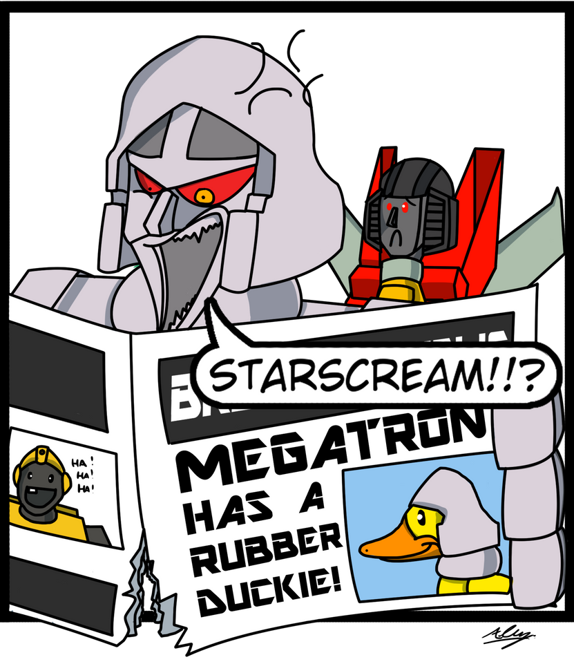 Megatron is NOT amused by Adam-Clowery