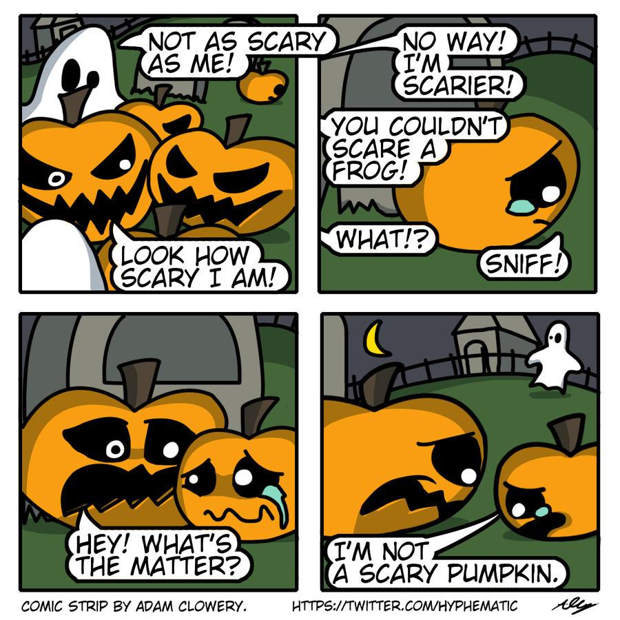 Halloween Comic Strip #1 - The Little Pumpkin by Adam-Clowery