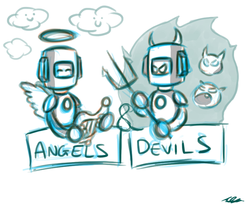 Angels and Devils JAC Sketch by Adam-Clowery