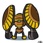 Big Fist Robo Toon by Adam-Clowery