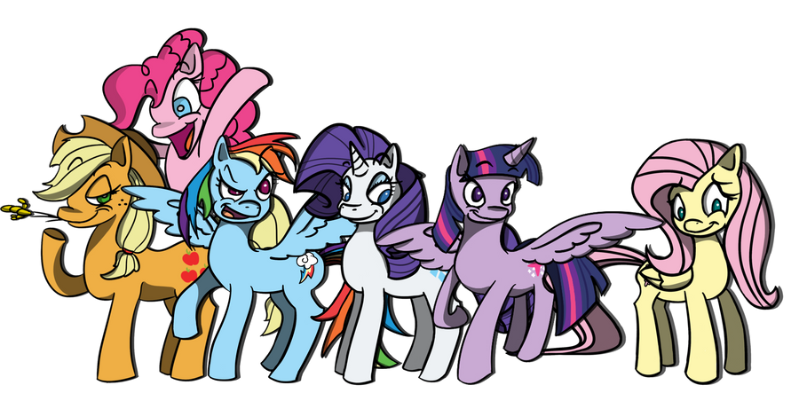 Mane 6 by Adam-Clowery