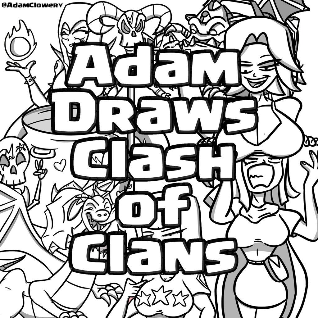 Adam Draws Clash of Clans by Adam-Clowery