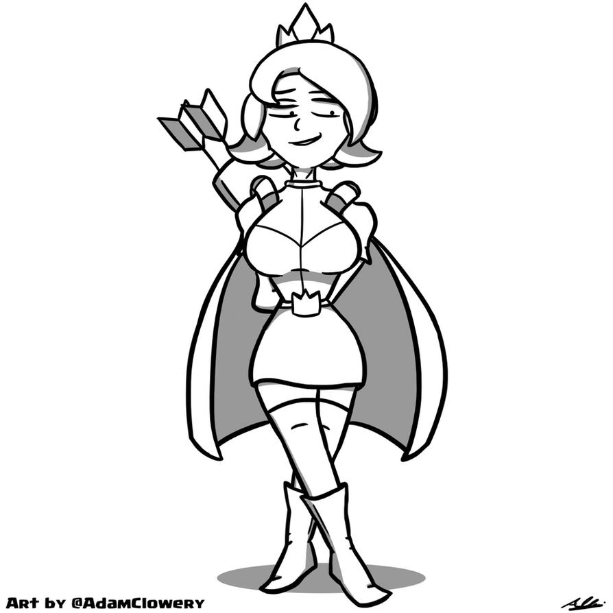 Clash Royale Princess 2 By Adam Clowery On Deviantart Sparky The Coloring Pages