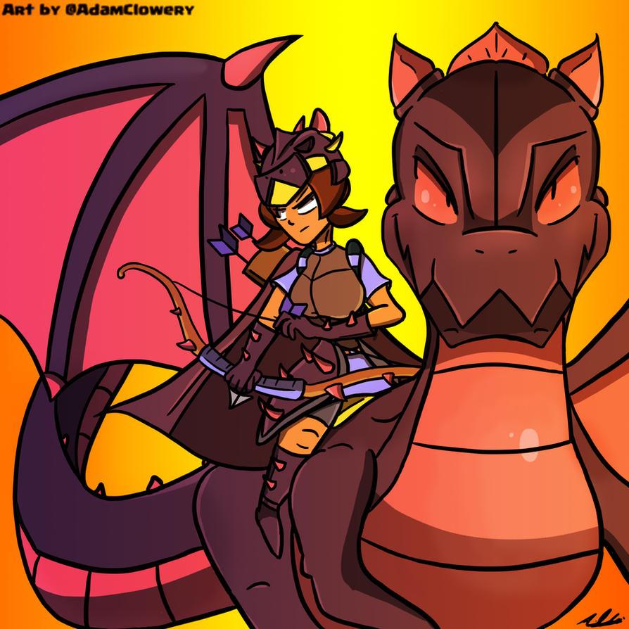 Dragon Knight Princess by Adam-Clowery