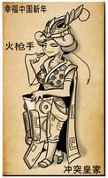 Chinese New Year Musketeer by Adam-Clowery