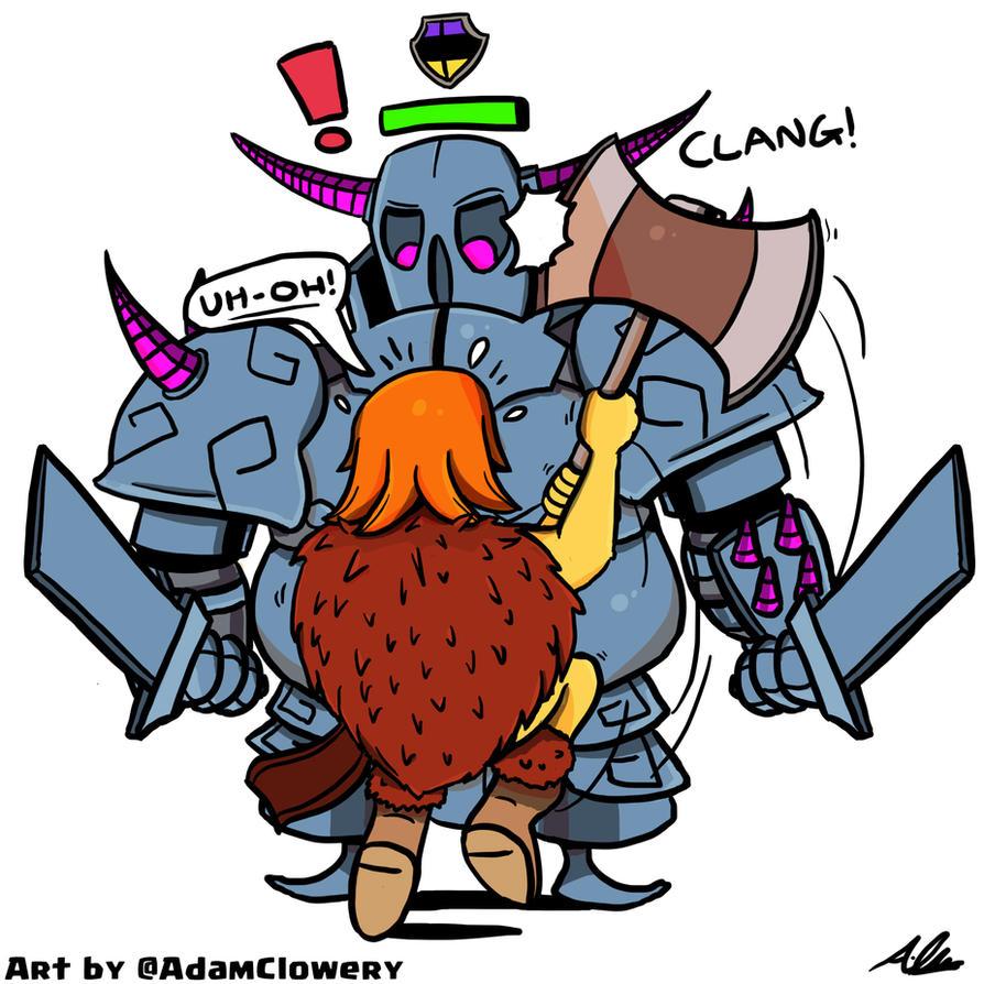 Valkyrie vs Clan Castle P.E.K.K.A. by Adam-Clowery