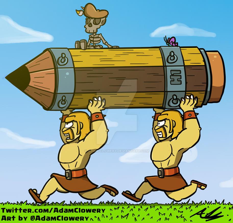 Battle Pencil by Adam-Clowery