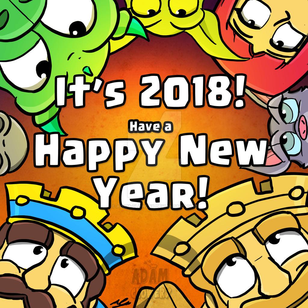 Happy New Year 2018 by Adam-Clowery