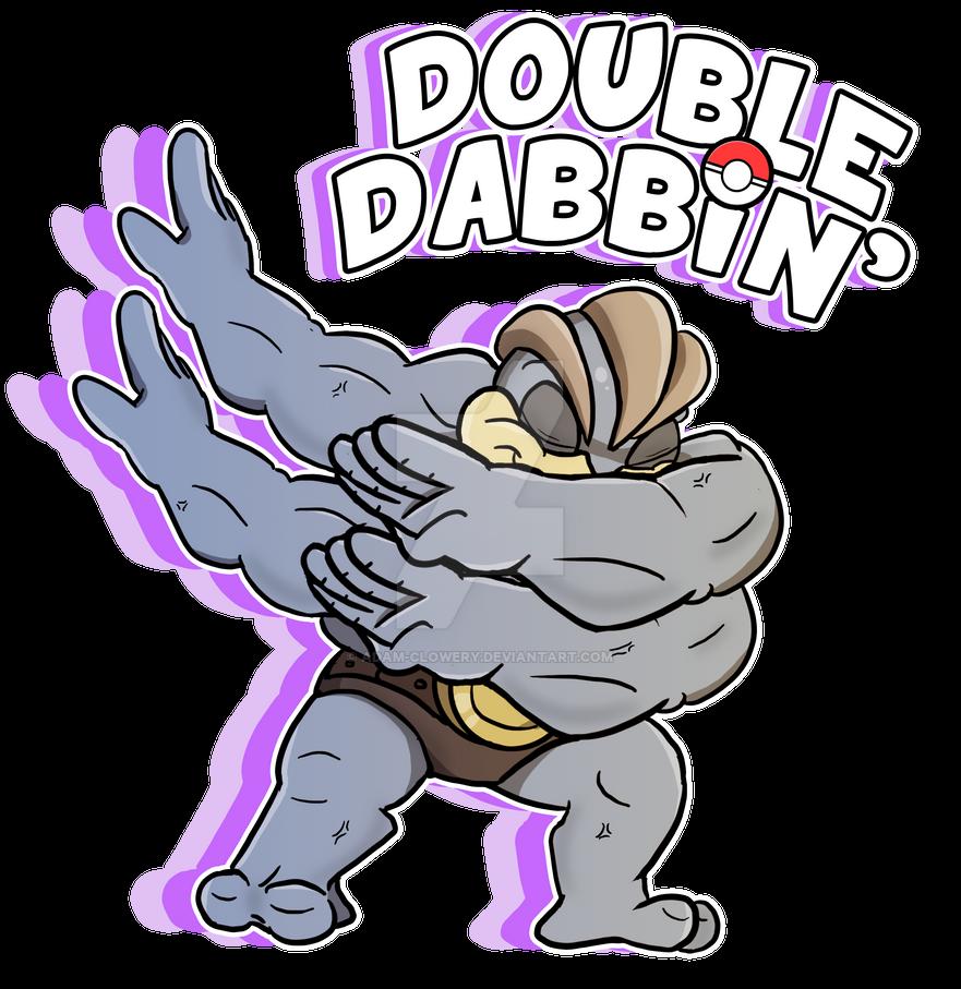 Double Dabbin' Machamp by Adam-Clowery