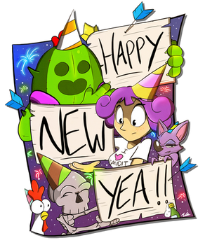 Happy New Year 2019! by Adam-Clowery