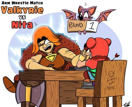 Valkyrie vs Nita #2 by Adam-Clowery