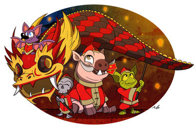 Year Of The Pig by Adam-Clowery