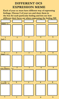 Different oc expression meme