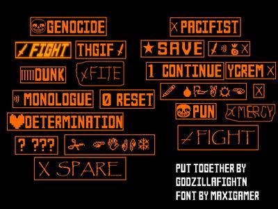 Undertale Custom Buttons By Godzillafightn On Deviantart