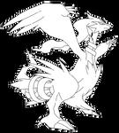 F2U Lineart - 643 Reshiram