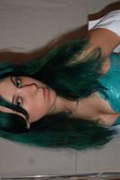 green hair and underwear stock by huomennastock