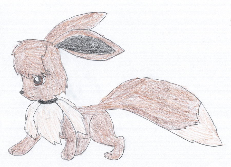 Marshall the Eevee by KendraTheShinyEevee