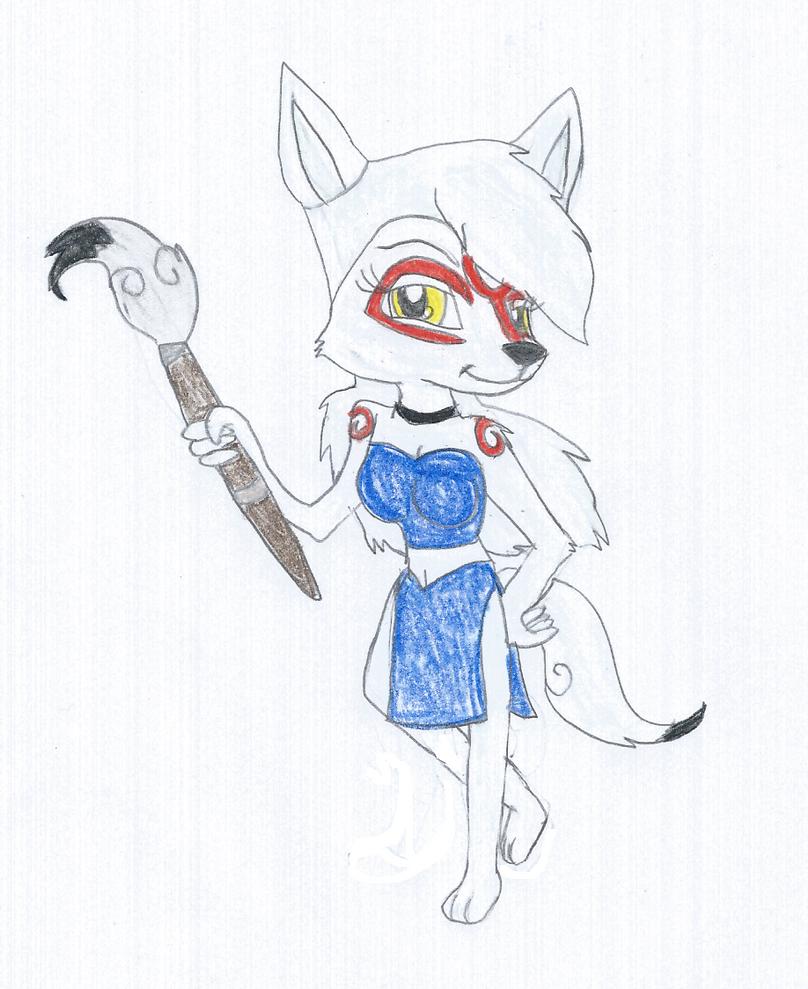 Hoshiko the Okami Wolf 3 by KendraTheShinyEevee