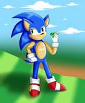 Sonic the Hedgehog w/ a Chaos Emerald - My Style