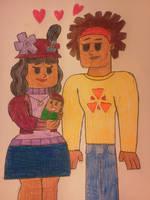 Total Drama Babies: DJ's Parents by KawaiiWonder