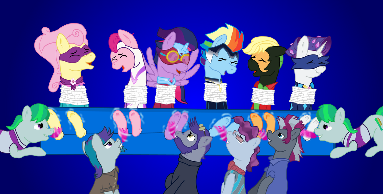 Power Tickle Ponies (Henchponies) by icey-wicey-1517