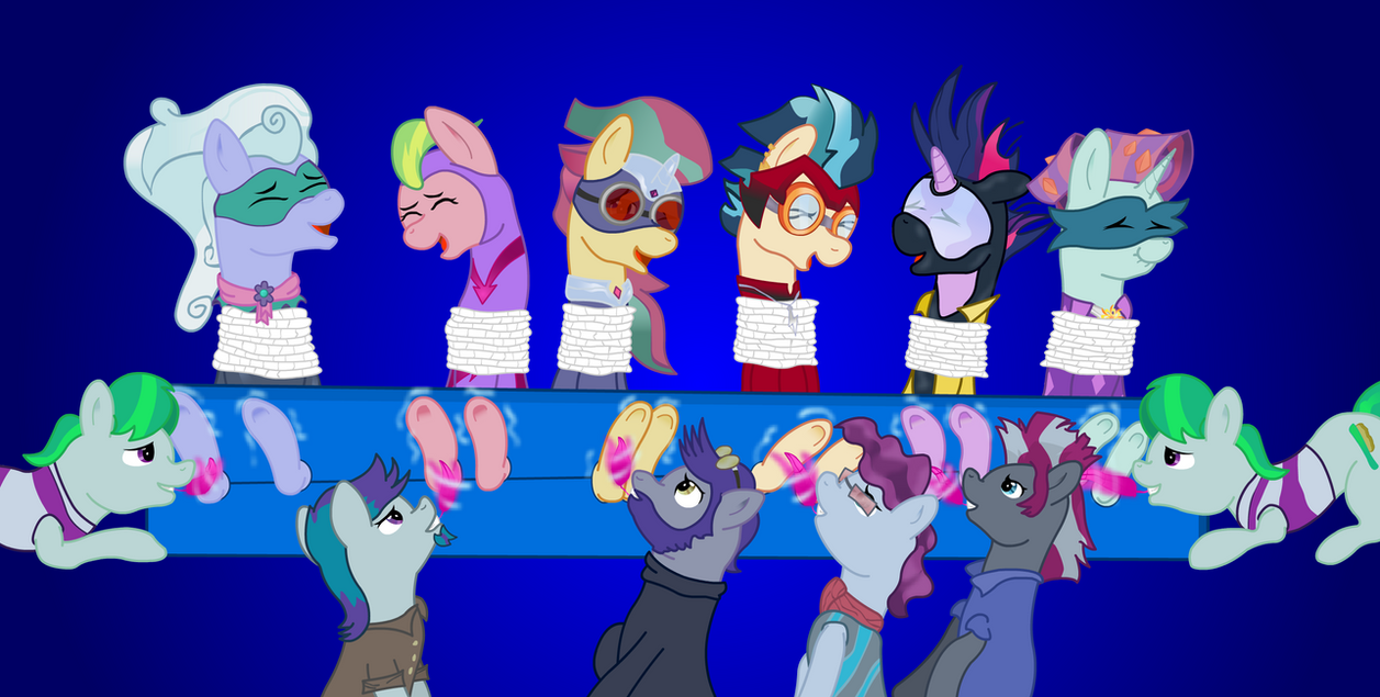 Power Tickle Ponies (Shadowbolts/Henchponies) by icey-wicey-1517