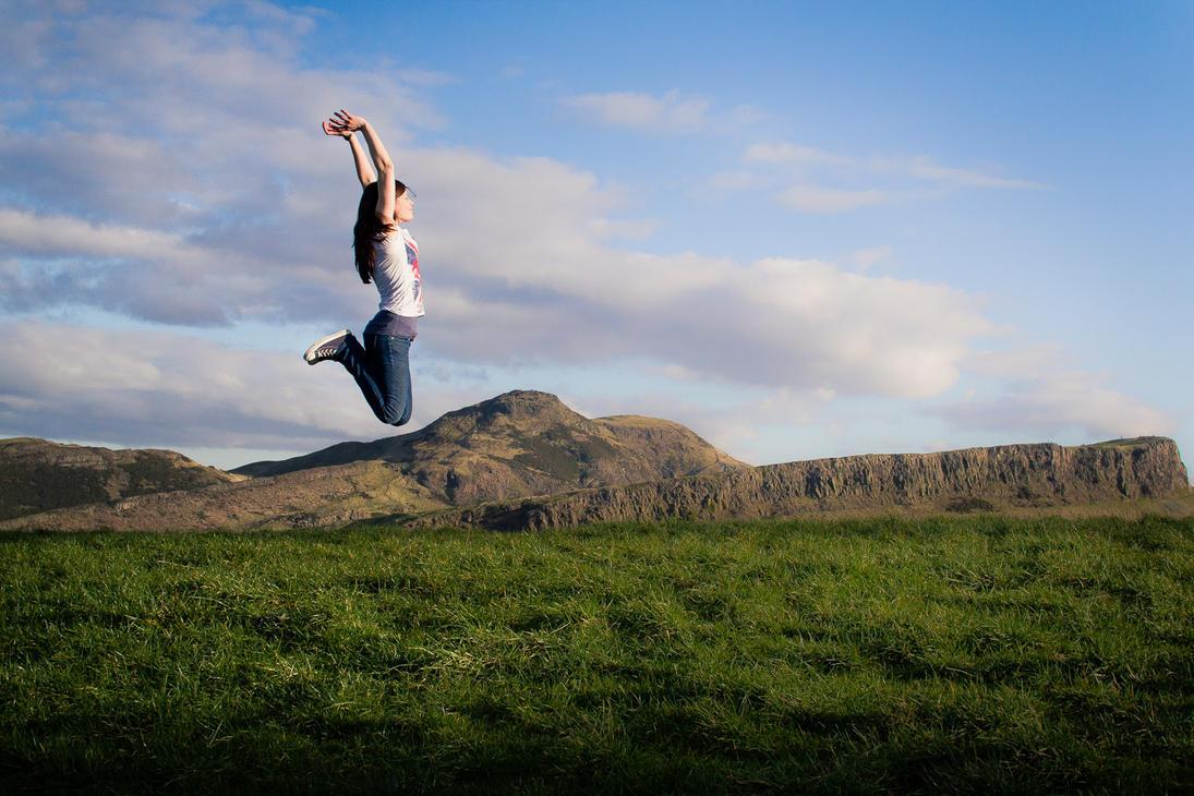 Jump... over Holyrood Park by Fr34kZ
