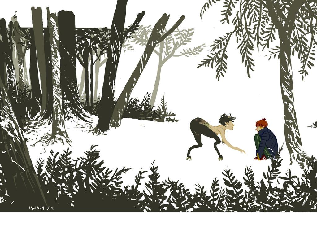 faun and boy by klindicative