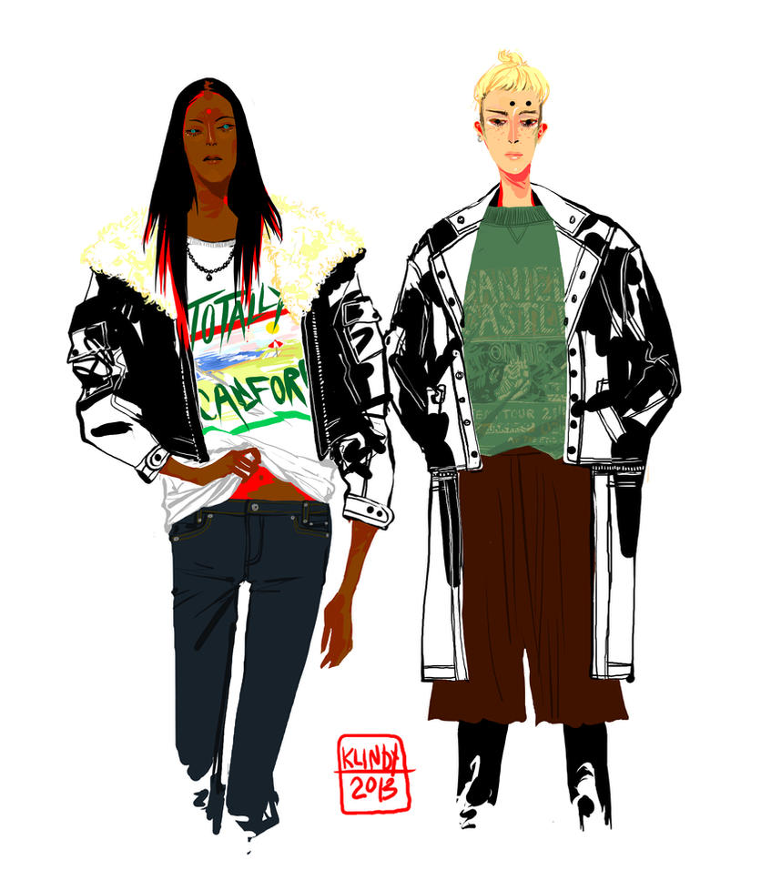 boys in shirts and jackets by klindicative