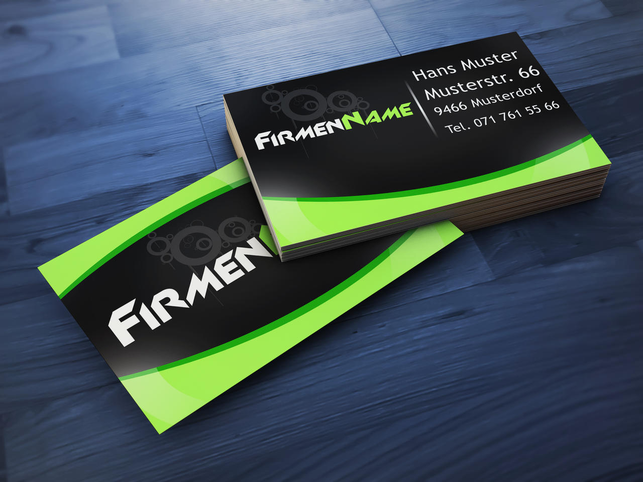 Business card Template i made with Photoshop by Plampii
