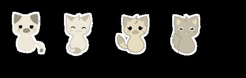 Kitty Squad Stickers by d-w-e-e-b