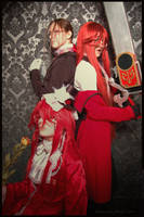 Three faces of Grell Sutcliff by Prince-Lelouch