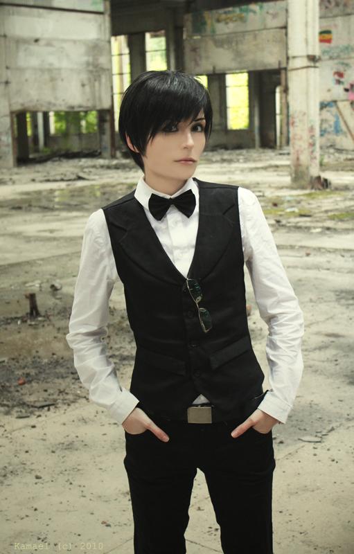 Izaya barmen uniform cosplay by Prince-Lelouch