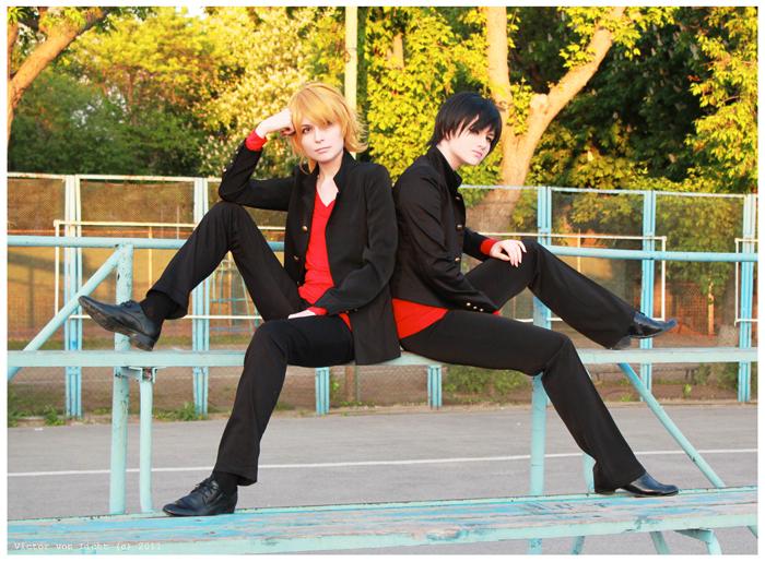 Shizuo and Izaya sch.uniform by Prince-Lelouch
