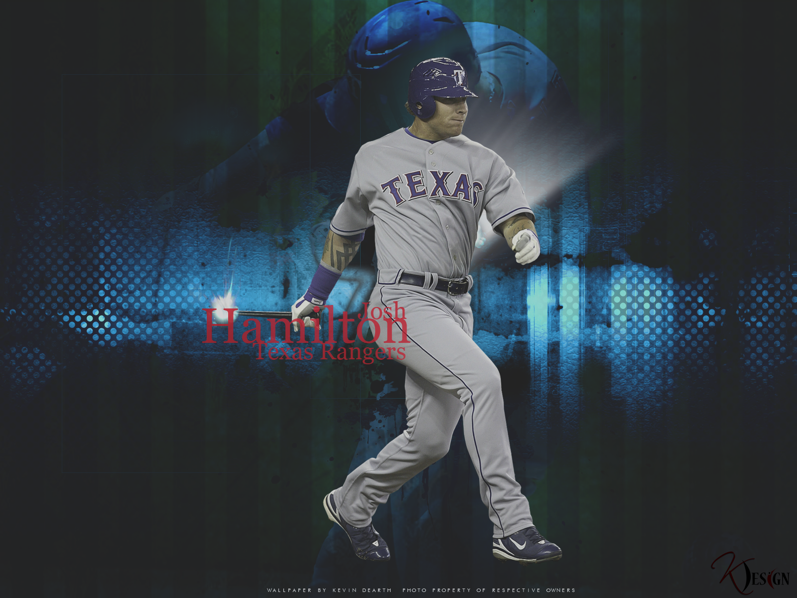 Josh Hamilton Wallpaper by KevinsGraphics