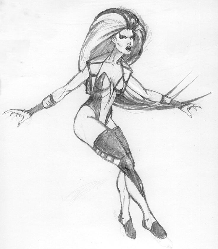 Sindel MK3 Sketch by gabe687 on DeviantArt