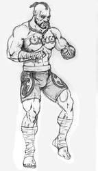 Bruce Ervin Tekken Sketch by gabe687