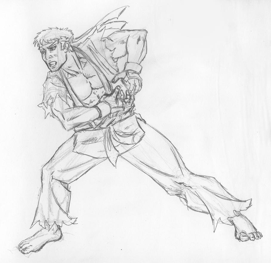 How to draw Ryu Street Fighter  drawing and digital