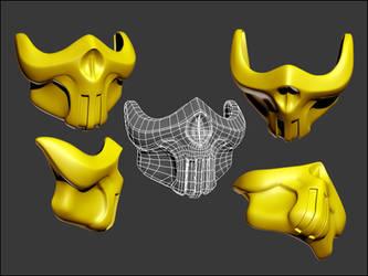 Scorpion UMK3 concept art mask by gabe687