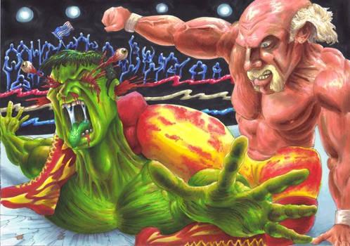 Hulk Hogan Vs The Hulk finish