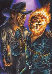 Undertaker Vs Ghost Rider 1 by MrJimiMadcap