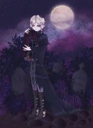 midnight garden by grim-hatter