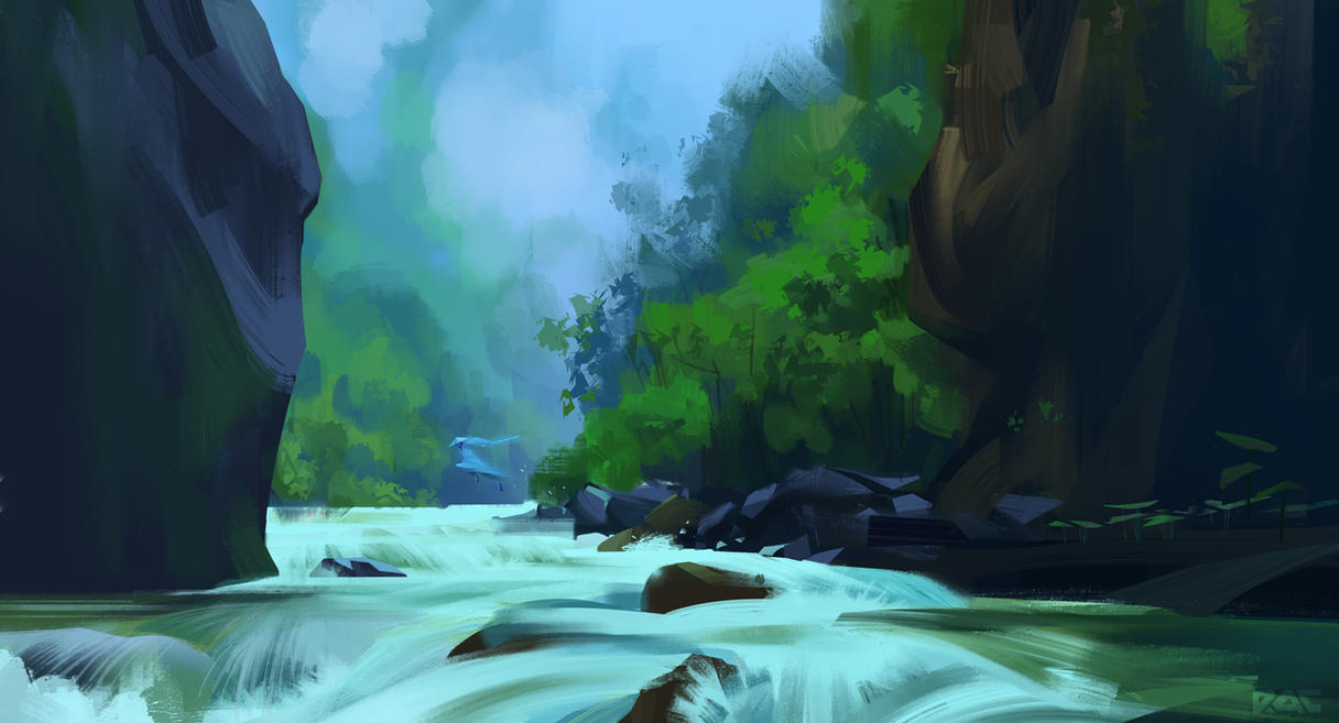 Mountain stream by Rachance