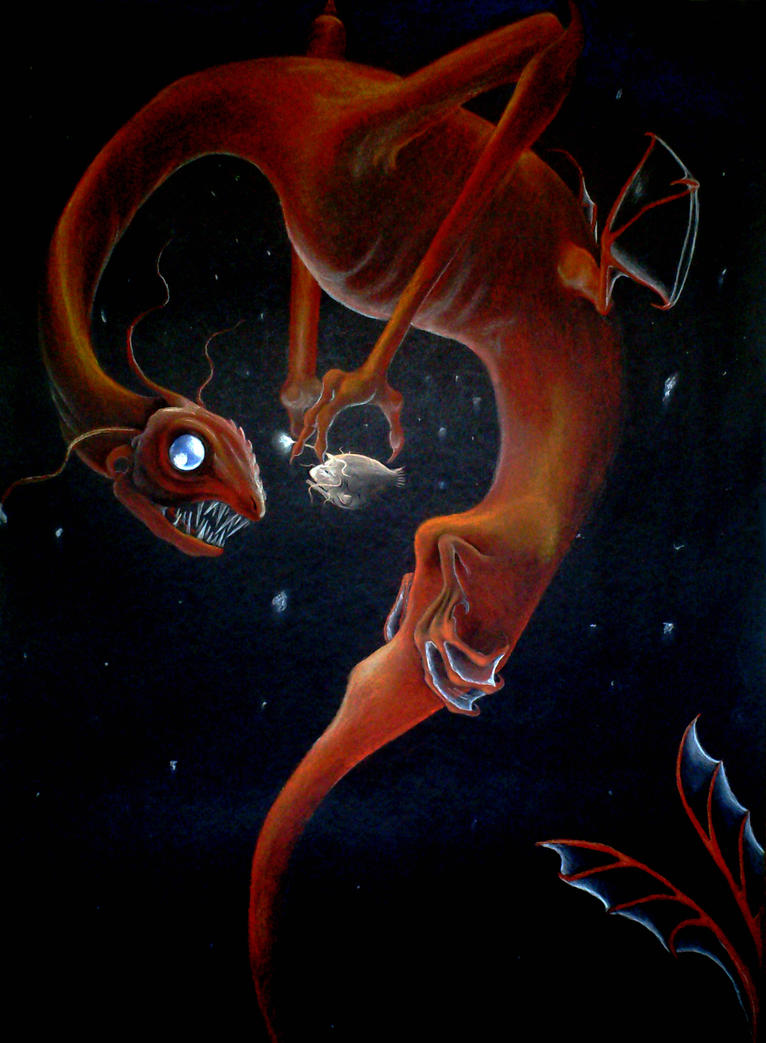 Deep sea dragon angler fish by trinafool on deviantart for Angler fish ark
