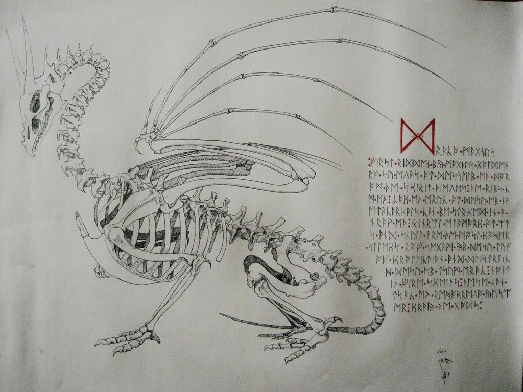 Dragon Skeleton by trinafool