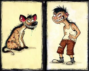 Spotted hyena by YuriBeltran