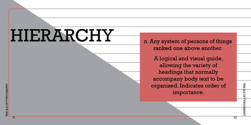 h is for hierarchy