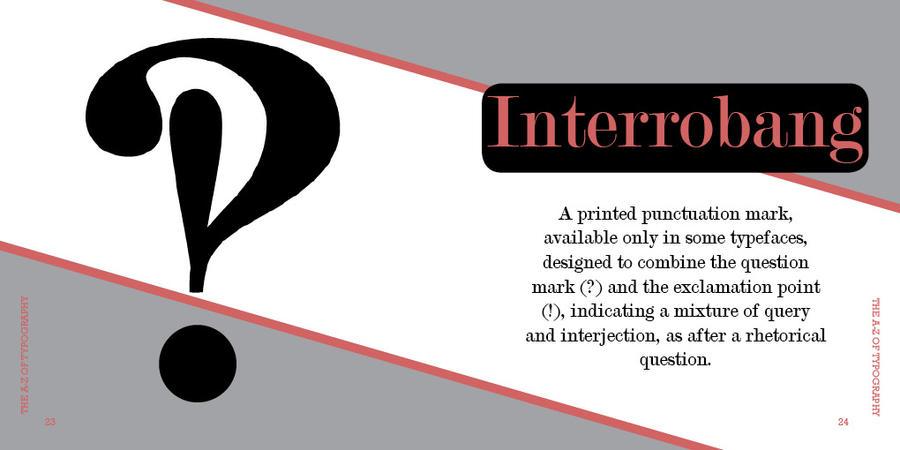 i is for interrobang