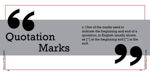 q is for quotation marks